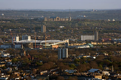 The Emirates Stadium and Alexandra Palace from Tower 42 (JB Raw Images) Tags: park city uk morning light england urban london beautiful dawn europe view stadium capital north alexandrapalace arsenal haringey jbraw