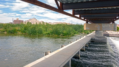 Weir Under Bridge Full Support (ken mccown) Tags: nevada erosion wetlands mojavedesert urbanriver lasvegaswash clarkcountywetlands