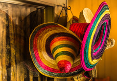 Sombreros! (Nils Croes) Tags: color hat 50mm restaurant colorful warm colours hats mexican sombrero colourful sombreros 60d