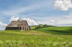 Another Palouse Barn (NikonDigifan) Tags: clouds barn nikon country farming americana nik agriculture tamron palouse d300 easternwashington palousehills viveza tamron18270 mikegassphotography