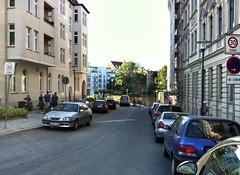 07.06.2013: Blick in die Bleckenburgstraße (gegen 20:00 Uhr).