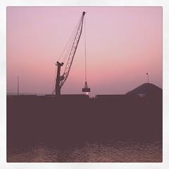 Crane Up (omerify) Tags: sunset india port ship crane vizag instagram omerify