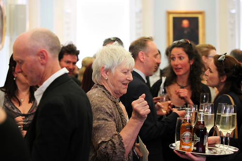 Eileen McCallum attending a drinks reception at Surgeons Hall