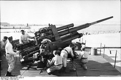 """8.8 cm FlaK anti-aircraft gun on the French coast, operated by the German Luftwaffe, circa 1942-1943. • <a style=""""font-size:0.8em;"""" href=""""http://www.flickr.com/photos/81723459@N04/9183527239/"""" target=""""_blank"""">View on Flickr</a>"""