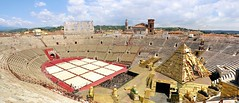 From gladiators to opera singers in the Arena di Verona (Bn) Tags: world street pink blue summer sky people italy holiday green heritage buildings site ancient topf50 bars opera colorful italia day pyramid mask cloudy roman vibrant centre central egypt churches restaurants shakespeare facades medieval tourists unesco well arena cobblestone verona area romeo walls preserved piazza amphitheater juliet picturesque topf100 cultural aida colony romans gladiator tutankhamun gladiators fights corridors veneto amphitheatres hued 100faves 50faves br churchofteatini
