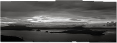 This Morning (Bong Manayon) Tags: bw panorama blackwhite pentax philippines batangas ppg cavite k5 taallake tagaytaycity pentaxphotogallery bongmanayon bestcapturesaoi pentaxk5 lizamariemanayon