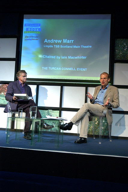 Andrew Marr on stage