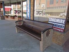 Longmire Bench Monday (RootsRunDeep) Tags: bench tv election series wyoming monday ae longmiredays