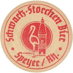 Bierdeckel / Schwartz-Storchen Bier (micky the pixel) Tags: bird beer germany logo deutschland ephemera beermat bier vogel coasters speyer bierdeckel storch braurei schwartzstorchenbier