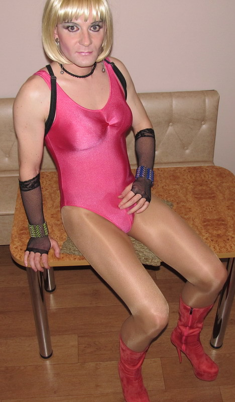 Sissy brother in pantyhose