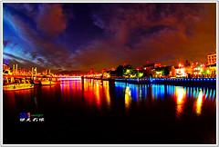 SDIM3831 ( or Jeff) Tags: voyage bridge blue sunset sky art nature water colors night clouds buildings real coast twilight place shot dusk taiwan sigma explore wharf  taipei  1020mm discovery  seeking scenes    nightfall afterglow merrill  foveon landscap  dadaocheng   x3       glimmering 18200mm sd1
