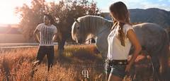 Country (Ral Barrero fotografa) Tags: light boy portrait horse luz nature girl caballo couple chica retrato country campo chico