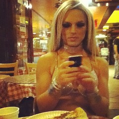 #Pizza w/ #BritneySpears aka #DerrickBarry last night after #Showgirls at #Mickys Get ready #WeHo for 1 more show tonight at #DreamGirls #Rage (Nick San Pedro) Tags: square squareformat rise iphoneography instagramapp uploaded:by=instagram foursquare:venue=4b5160fdf964a5200d4c27e3