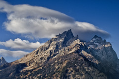 Teton Peaks and Clouds (Robert H Carney) Tags: mountains clouds wyoming tetons