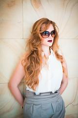 (Isai Alvarado) Tags: portrait woman cinema blur film girl fashion wall movie 50mm daylight model nikon focus dof arms bokeh stock longhair cine shades lips blondie cinematic softlight d800 yoli 50mm14g