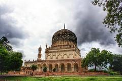 Qutb Shahi Tombs - the magnificent tomb of Hayath Bakshi Begum (siddharthx) Tags: architecture construction ancient hyderabad tombs golconda mausoleums qutbshahi bhagyanagar 1580ad 1687ad