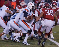 University of Arkansas vs Auburn University Football (Garagewerks) Tags: man male college ex sport football university sony sigma auburn os apo arkansas f28 dg a77 70200mm hsm vision:mountain=0678 vision:outdoor=0906