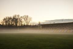 Foggy Autumn (G. Mackeviciute) Tags: autumn fall wet stadium rainy 16mm