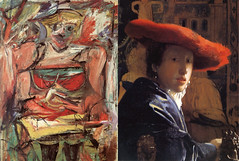 What do Vermeer and de Kooning have in common? (Matthews Gallery) Tags: pink red portrait newmexico santafe art hat portraits painting de artist artgallery paintings portraiture painter figure oil vermeer johannes figures painters oilpainting figurative arthistory willem canyonroad portraitist kooning artblog artworld artnews matthewsgallery