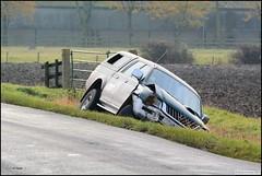 Off Road (dark-dawud) Tags: road uk trees england field tarmac fence gate ditch offroad 4x4 crash wheels dent lincolnshire roadside dyke broad l200 dike mitsubishi fencepost mitsubishil200 gaytonlemarsh