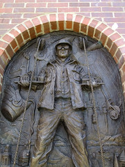 (Shane Henderson) Tags: city hardhat sculpture monument town arch bricks goggles relief cables