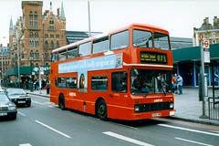 ARRIVA LONDON NORTH L528 G528VBB KINGS CROSS 050499 (David Beardmore) Tags: g528vbb l528 leyland olympian northerncounties leaside arrivalondonnorth arrivaservinglondon doubledeckerbus