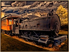 Lehigh Valley Railroad Station ~ Ithaca Ny ~ Vintage Train ~ HDR (Onasill) Tags: county old railroad light shadow ny classic car station architecture clouds train vintage spectacular canal finger lakes elmira engine tourist historic valley trust co historical passenger ithaca romanesque hdr tompkins lehigh revival rrd travek chemung nrhp onasill vision:sunset=058 vision:car=0533 vision:sky=0874 vision:outdoor=0613 vision:clouds=0779