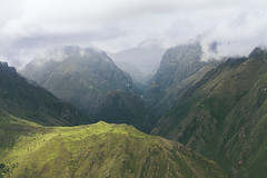 Here am I, reconciled with the gods (AnnuskA  - AnnA Theodora) Tags: mountains green peru beauty rain weather clouds landscape dramatic surreal hills andes andean peruvian amazingplace