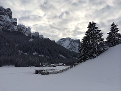 364/365 (hachiko_it) Tags: winter sky italy cloud house mountain snow cold tree barn fence day village dolomites iphone becco croda crodadelbecco seekofel iphoneography 3652013 chiarasirotti 365the2013edition day364 pwwinter 30dec2013 dat364365