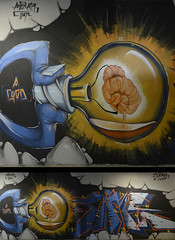 Idea_b_s (Azram 1107) Tags: light bulb idea graffiti brain azram zuias
