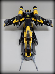 Front Gunship Black Yellow (Johnny-boi) Tags: shadow cinema trooper yellow battle palace walker legos custom legostarwars hoth gunship minifigure atap vision:text=059 vision:outdoor=0673