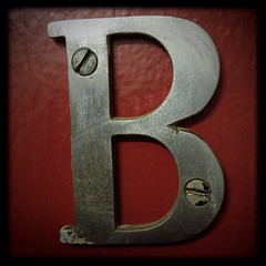 B - 3 (William Shropshire) Tags: b red copyright toronto ontario canada color colour square photography shropshire capital william photographs single letter allrightsreserved 4s iphone 2014 ⓒ