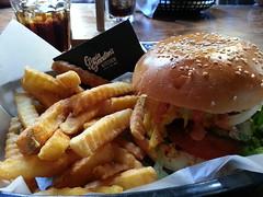 Kick Ass Burger AUD16, cola AUD4 - Gloria Swanston's Kitchen (avlxyz) Tags: cola burger chips hamburger cocacola crinklecutchips flickrandroidapp:filter=none
