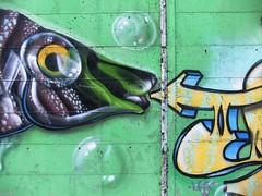 pesce multicolor (givanna) Tags: verde graffiti freccia pesce bolle
