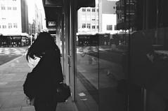 rap (_markforbes_) Tags: light shadow blackandwhite bw reflection window girl streetphotography cityscapes melbourne fujifilm x100 fujix vsco