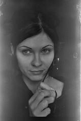 (golovachevs) Tags: portrait bw white black girl 35mm blackwhite pentax negative roll 35 selfprocessed negativefilm selfprocess svema