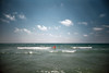 , (Benedetta Falugi) Tags: pink blue sea summer sky woman seascape film water analog day child 22mm eximus benedettafalugi wwwbenedettafalugicom