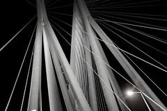 Bandra Worli Sea link (Dhaval Motghare) Tags: bridge sea night blackwhite fuji link mumbai bandra worli x100s