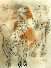 LE BEAU DISCOURS (Claude Bolduc) Tags: love anorexia outsiderart artsingulier rawart lowbrow intuitiveart visionaryart christ