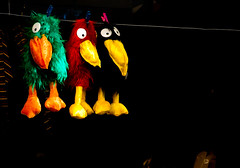 Colgados (Fernando Two Two) Tags: barcelona toy toys doll thing object bcn catalonia catalunya mueco cosa catalua objeto juguete hanged granvia instantanea colgados firadereis granviadelescortscatalanes feriadereyes firadesanttomas