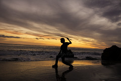 Cody and his whip (SW23CT (CamsDigitalCanvas.com)) Tags: ocean california boy sunset portrait man reflection beach water silhouette clouds fun pch whip cody cdc matador elmatadorstatebeach nikond7100