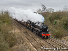 Mainline-180317-2 (Steven Reid - Reid Photographic) Tags: black5 blackfive heritage heritagerailways lms railway steam steamengine train vintage westbury engine locomotive railroad smoke steamlocomotive