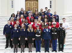 02-22-17 Governor Bentley with Career Tech Education Students