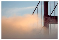 Good morning, GGB! (me*voilà) Tags: ggb goldengatebridge morning fog veil memories abstract silhouette sf