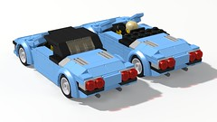 1987 Lamborghini Jalpa Spyder (Nivracer (Kevin Michaels)) Tags: 1987 lamborghini jalpa spyder prototype 1980s italy italian 6wide lego digital designer ldd render mid engine sportscar classic v8