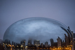 The Day of the Earth Hour Bean - March 25, 2017 (Flipped Out) Tags: chicago millenniumpark cloudgate thebean mercuryrising