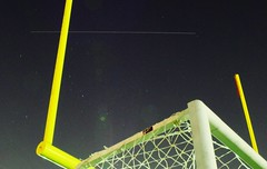 Space Station Thru The Uprights (Cowboy Dan Paasch) Tags: trimble tech high school fort worth light pollution football goals soccer