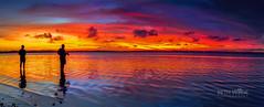 My Durban Fishermen (Beth Wode Photography) Tags: sunset dusk reflections pano fishermen silhouettes wellingtonpoint redlands moretonbay beth wode bethwode