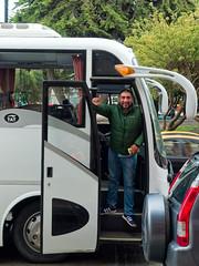 ¡Hasta luego! (LeftCoastKenny) Tags: chile patagonia day16 puntaarenas bus driver trees