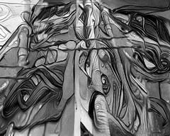 confusion (xandram) Tags: urban buildings wires bw dreamscopevariant photoshop